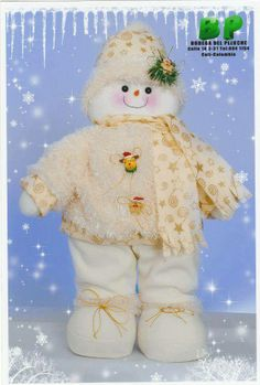 nieve Christmas Snowman, Decor Crafts, Fashion Dolls, Christmas Decorations, Teddy Bear, Toys, Crochet, Holiday, Animals