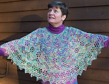 Knit Poncho Ravelry pattern for sale