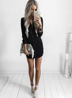 Fabulous first date outfit ideas for kt_looks длинные рубашки, женс First Date Outfits, Night Outfits, First Date Outfit Casual, Summer Outfits, Dinner Outfits, Mini Shirt Dress, Long Sleeve Shirt Dress, Sleeve Dresses, Dress Shirts