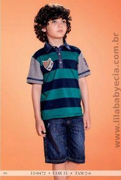 Camisa com Bermuda Diforini para meninos 130472