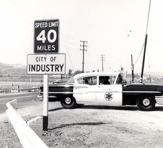 City of Industry, LAPD 1958 Chevrolet