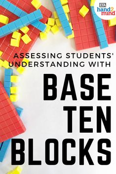 Learn how to incorporate Base 10 Blocks into your lessons to make math fun and easier to understand. From Pre K to Middle School, see how various grades can benefit from this incredible math resource! Base Ten Activities, Place Value Activities, First Grade Activities, Math Activities, Math Games, Measurement Activities, Math Stations, Math Centers, First Grade Sight Words