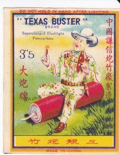 Vintage Chinese Firecracker Label