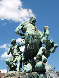 Centaurenbrunnen, Fürth, #Bayern #Fountain of the Centaur, Fürth, #Bavaria