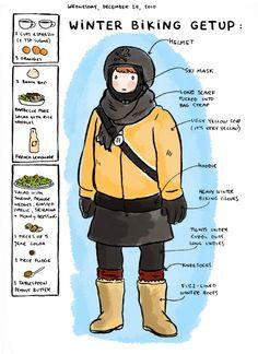 Non lasciare il freddo ti impedisca #pedalare!
