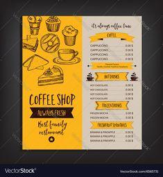 Royalty-Free Vector Images by Marchie (over Cafe Menu Design, Menu Card Design, Food Menu Design, Food Menu Template, Restaurant Menu Template, Restaurant Menu Design, Menue Design, Candy Room, Brochure Food