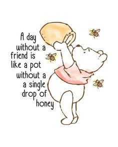 Classic Winnie The Pooh Nursery Print -You can find Friendship day quotes and more on our website.Classic Winnie The Pooh Nursery Print - Winnie The Pooh Nursery, Winnie The Pooh Quotes, Winnie The Pooh Friends, Winnie The Pooh Drawing, Piglet Quotes, Winnie The Pooh Classic, Disney Winnie The Pooh, Winnie Pooh Kindergarten, Friends Are Like
