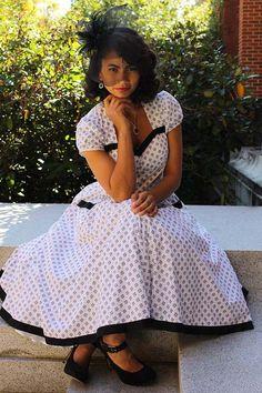 Womens robe modèle Swing Rockabilly Tia de par SewChicPatternCo