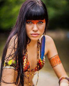 Indigenous Brazilian Beauty #beleza #brasileira (índia), #indígena #Amazon