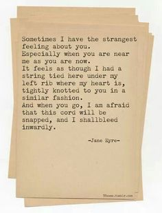 Charlotte Bronte - Jane Eyre. My favourite part of my favourite book.