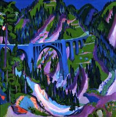Bridge at Wiesen , by Ernst Ludwig Kirchner.1926