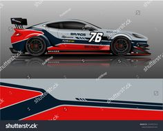 Car wrap design vector truck and cargo van decal. Graphic abstract stripe racing background designs for vehicle rally race adventure and car racing livery. Car Stickers, Car Decals, Rc Car Bodies, Sports Car Wallpaper, Cargo Van, Car Painting, Car Wrap, Background Designs, Car Wallpapers