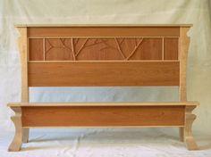 Tree Line - craftsman - Beds - Dc Metro - Lambkin Studios Custom Made Furniture, Furniture Design, Art Nouveau Furniture, Bed Design, Design Art, Folding Beds, Mortise And Tenon, Craftsman Style