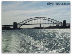 Leaving Circular Quay and the Sydney Harbour Bridge for Manly!