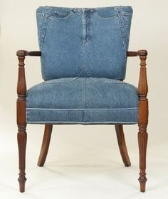 Dishfunctional Designs: Jeans & Denim: Recycled, Upcycled and Repurposed #Denim #Furniture
