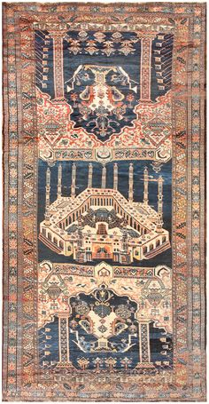 Antique Persian Kourdish Carpet 50266