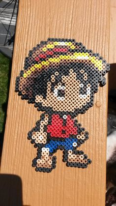 Monkey D. Luffy One Piece perler beads by nightskies on deviantART