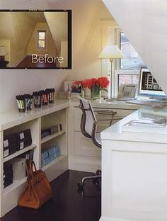 Best use of a dormer...office nook.