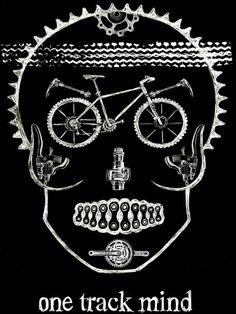 One Track Mind Mens Black Cycling Tee by Cycology Clothing