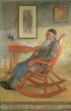 """My Father Olaf Larsson"", 1903, by Carl Larsson (Swedish, 1853-1919)"