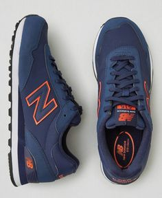 New Balance 574 - Tags: sneakers, low-tops, navy blue, orange