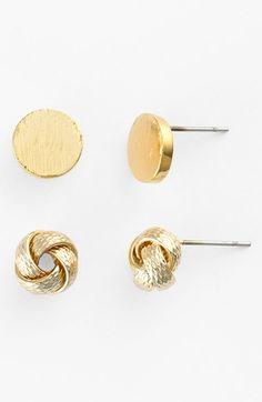Cara Stud Earrings (Set of 2) (Online Only)   Nordstrom