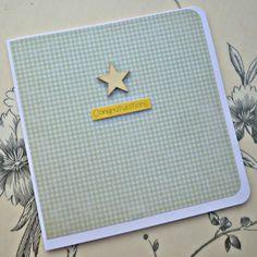 Handmade 'Congratulations' card available from Folksy