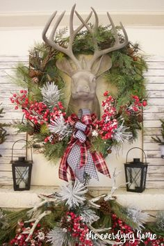 A beautiful Christmas mantel can really tie together the rest of your home, and serves as a focal point for any living space. This super easy tutorial will give you some great inspiration for your own holiday decor, and you can see more at:	http://everydayhomeblog.com/2015/12/tartan-plaid-and-berry-christmas-mantel-2.html