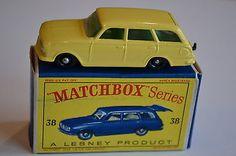 Matchbox Lesney Moko No 38 Yellow Vauxhall Victor Estate Car - Mint + Boxed - http://www.matchbox-lesney.com/24485