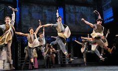 Newsies, el musical, Broadway, New York.