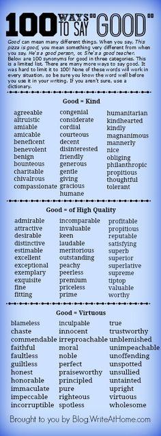 100 Ways to Say Good