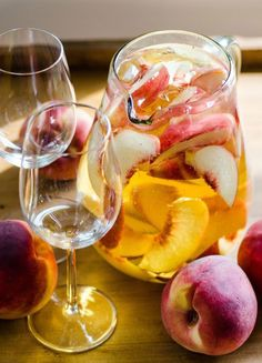 Serve Sparking White Peach Sangria