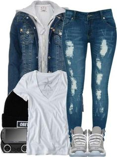 SHOES, Jeans, Beanie, Shirt! <3