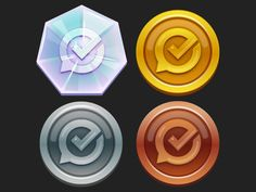 GSC Medallions by Naomi Paskowitz Game Icon Design, Fluent Design, Design Ios, Game Interface, Game Item, Game Assets, Machine Design, Game Ui, Motion Graphics