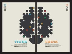 IBM and Ogilvy New York won an award for advertising typography for its posters promoting the Think exhibition at New York's Lincoln Center.