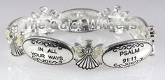 Buy this beautiful keepsake based on Psalm 91:11 Christian Scripture. It is a Religious Angel Stretch Bracelet & only $9.99 from Amazon.