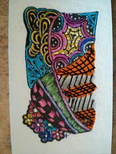 Done using good quality gel pens
