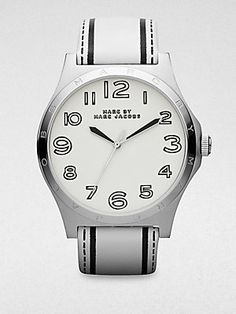 Marc by Marc Jacobs Stainless Steel & Printed Leather Watch