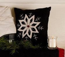 "Make every detail special at Christmas with our Christmas Snowflake Felt Pillow 10x10""! https://www.primitivestarquiltshop.com/products/christmas-snowflake-felt-pillow-10x10-1 #MerryChristmas"