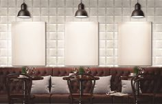 This season, squared format #tiles are trendy. Here, the newest #Soho #ceramic #tile collection.
