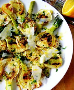 Grilled Fennel Salad with Fresh Herbs & Parmesan