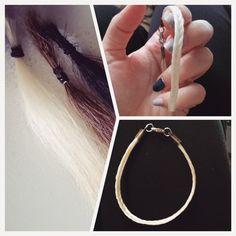 Diy Horse tail bracelet