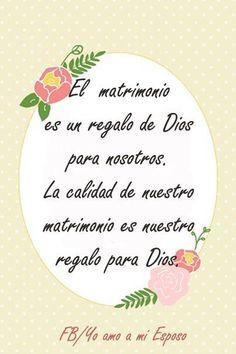 El #matrimonio es un regalo de #Dios #amo a mi #esposo  https://www.facebook.com/yoamoamiesposo?fref=ts
