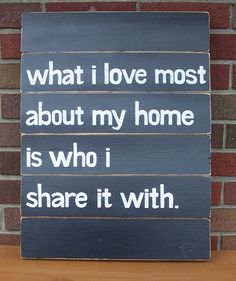 What I love Most SLAT SIGN CUSTOM Black by WeHaveAGreatNotion, $65.00