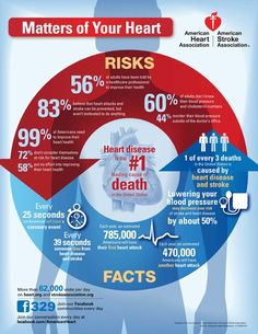 American Heart Association Infographics : Matters of Your Heart