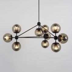 Lampe MODO CHANDELIER 3 SIDED, JASON MILLER, ROLL & HILL