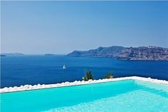 Villa Katikies  An Excellent Choice. With a stay at Villa Katikies in Santorini (Oia), you'll be minutes from Naval Museum and Oia Castle. This 5-star hotel is within close proximity of Baxedes Beach and Cape Columbo Beach.  Check Photos & Booking Options here: http://www.lowestroomrates.com/avail/hotels/Greece/Santorini/Villa-Katikies.html?m=p #Santorini