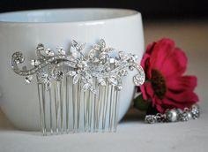 bridal hair comb wedding hair accessories bridal hair by BrideShop, $48.00