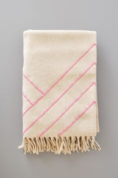 Blanket - Stella Lines Pink by KOROMIKO: Modern design goods for the considered home.