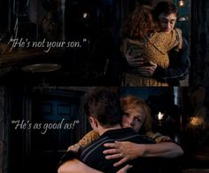 Mrs. Weasley. LOVE her. She always reminded me of my best friend's mom :)